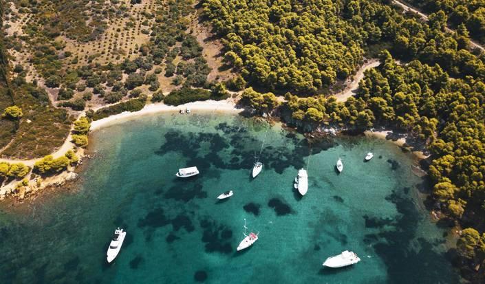 Raj među borovima, posjetite istočnu stranu Sitonije, Halkidiki