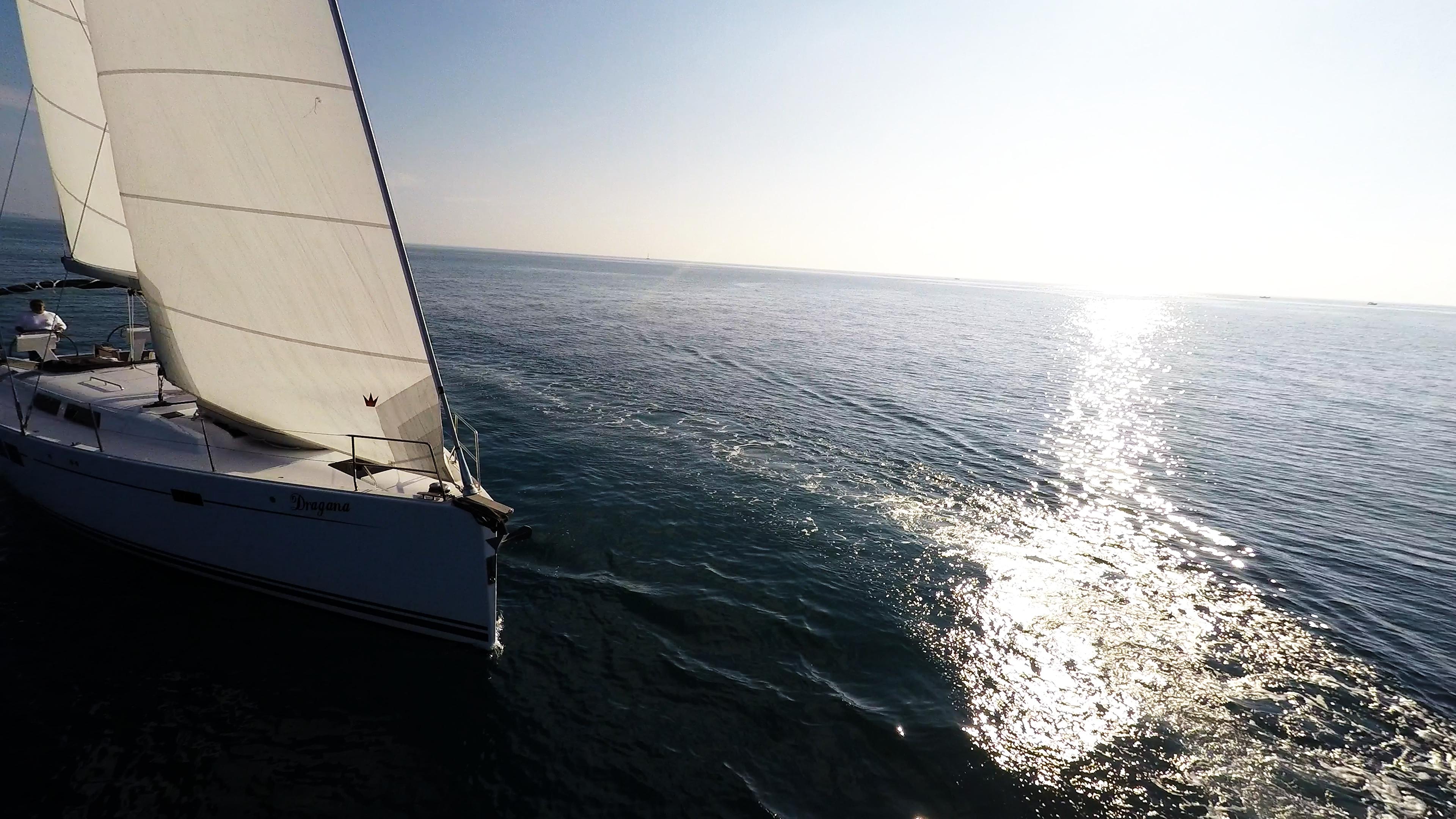 jedrilica jedri more sunčev sjaj