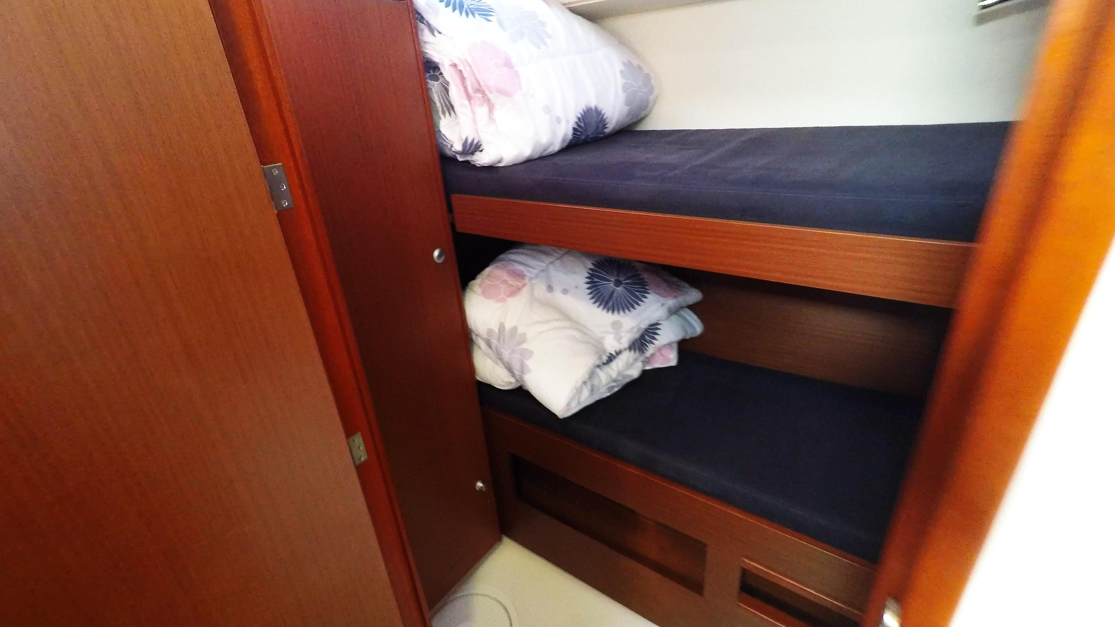 jednostruki krevet stražnja kabina jedrilica Hanse 505