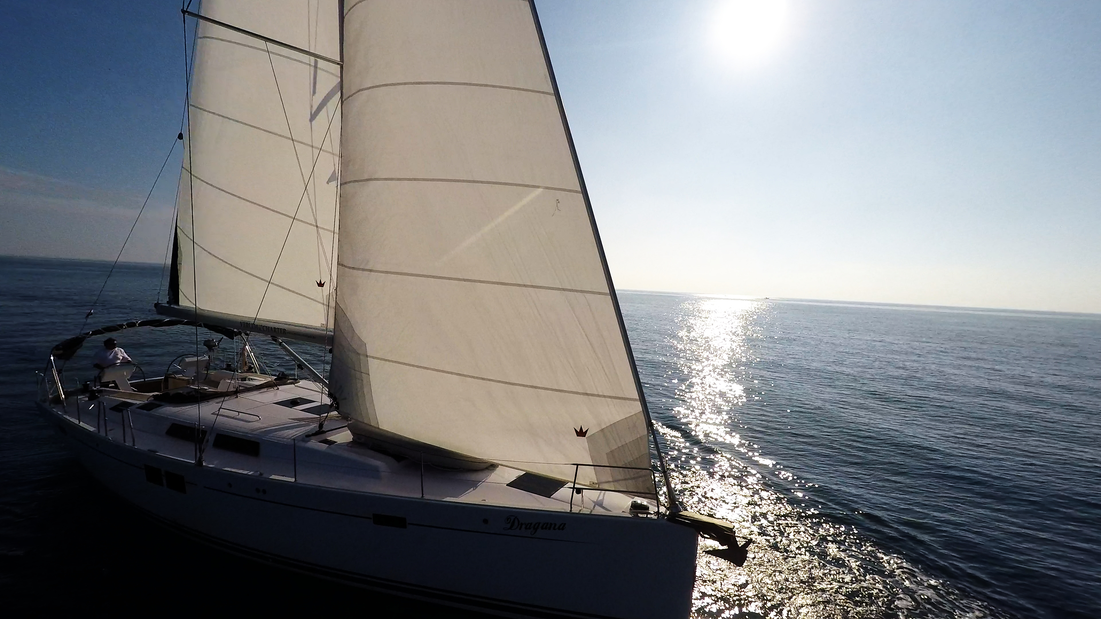 sunce jedra jedrilica more jedrilica Hanse 505