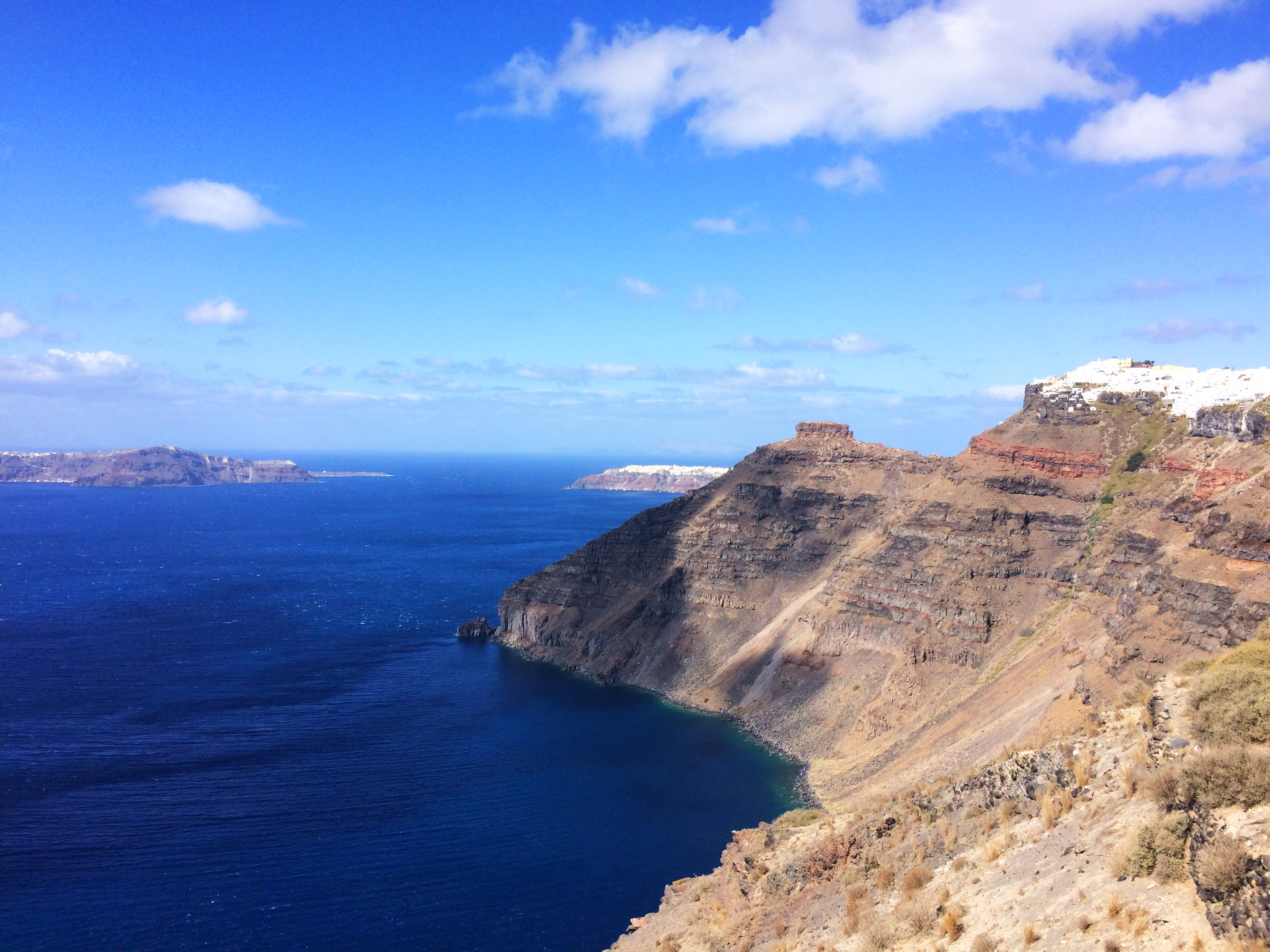 obala otok Santorini Grčka pejzaž