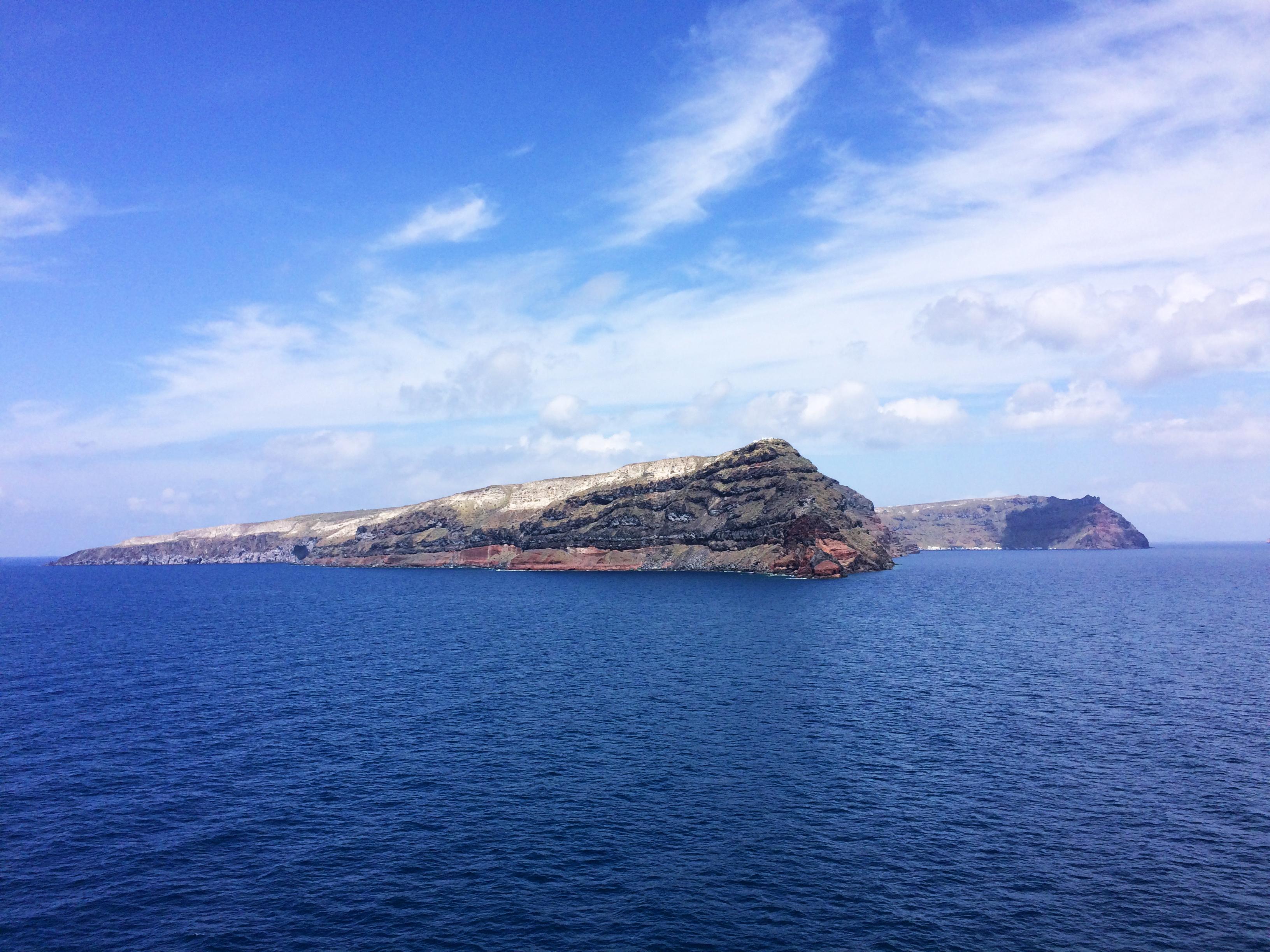 Santorini otok Grčka more