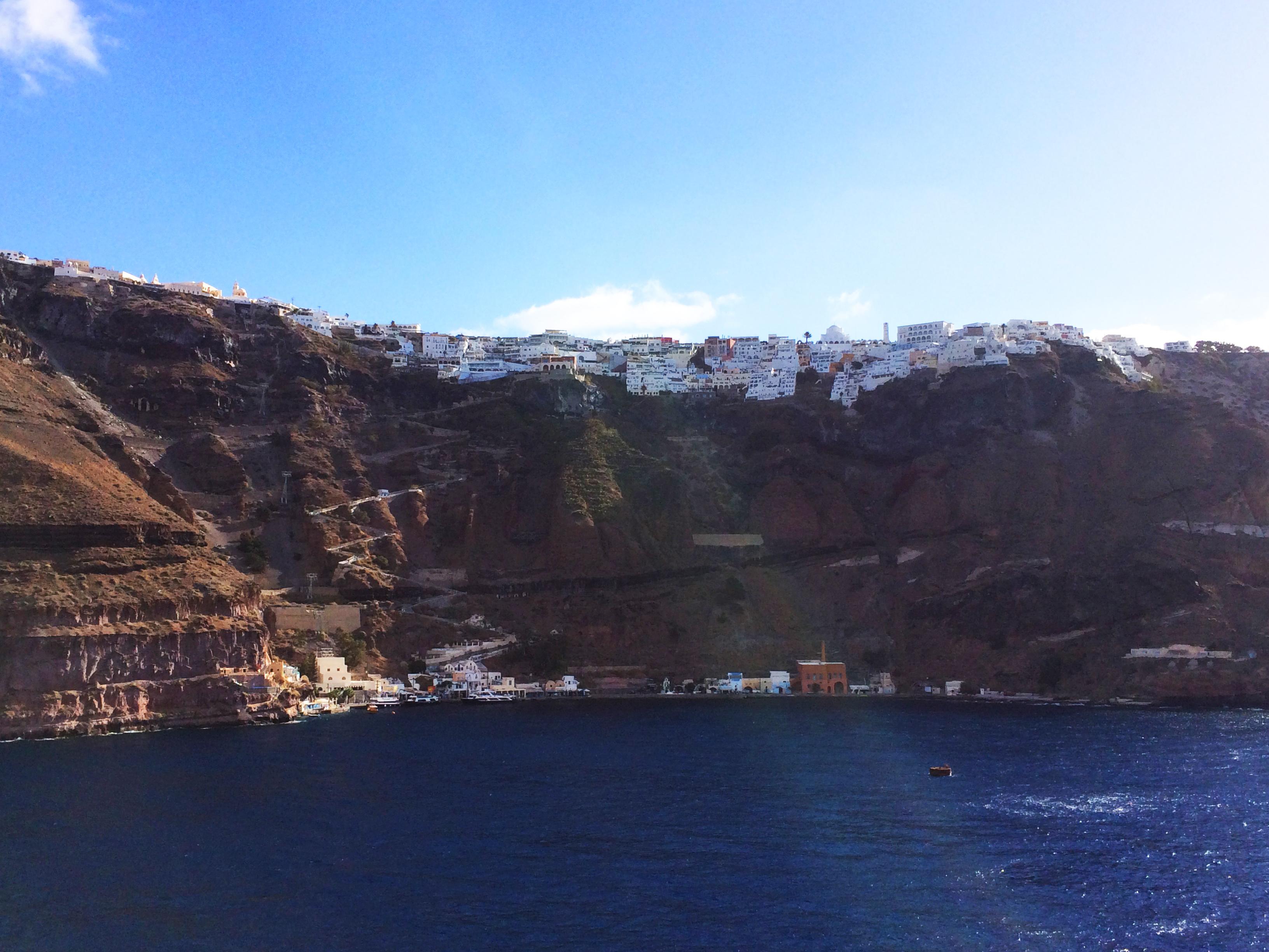 Santorini more Grčka