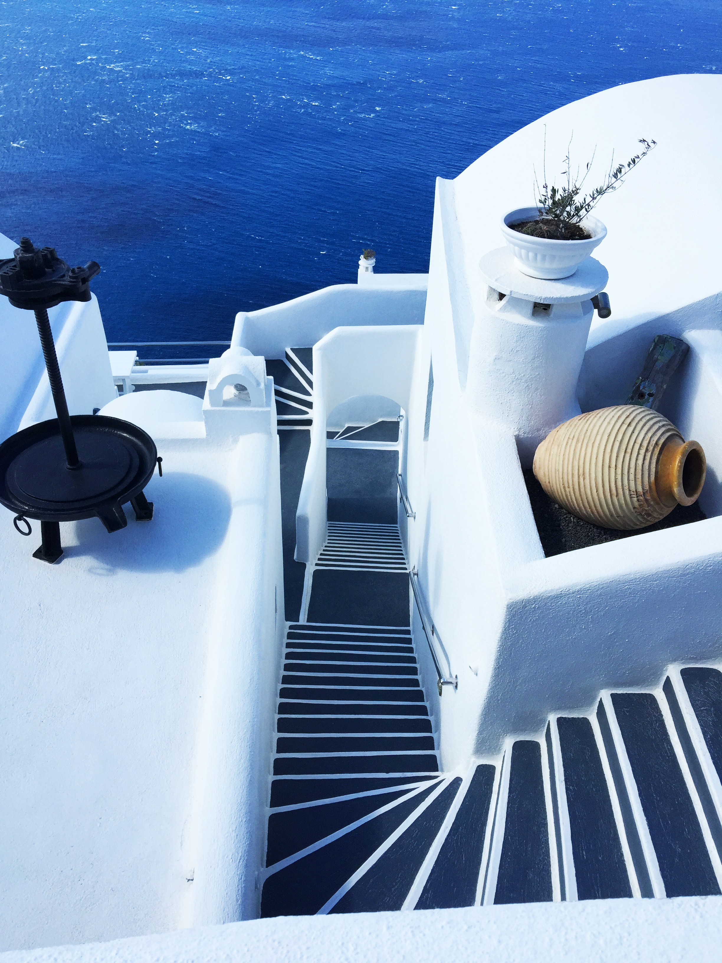 Santorini stepenice Grčka