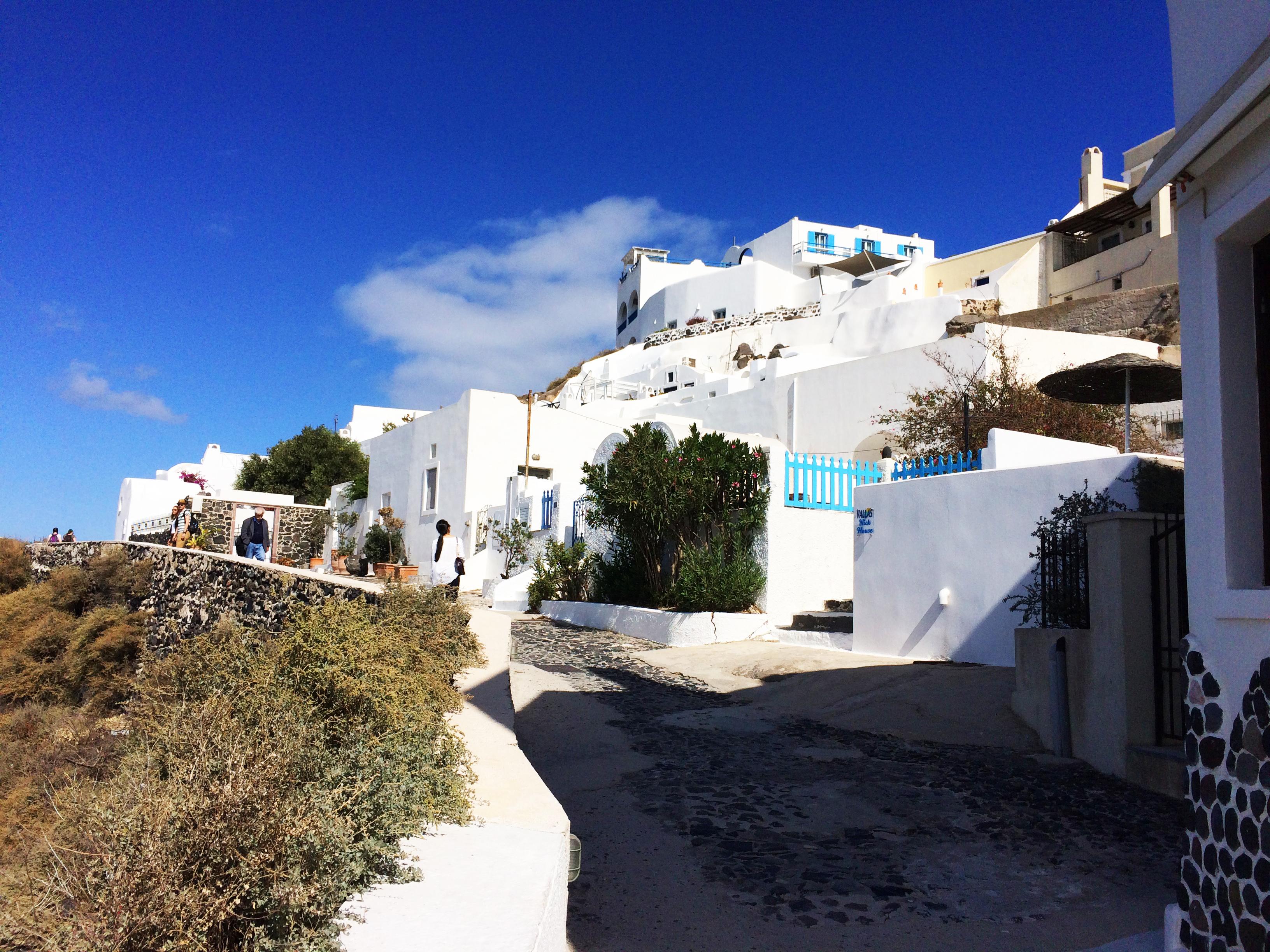 ulica Santorini Grčka