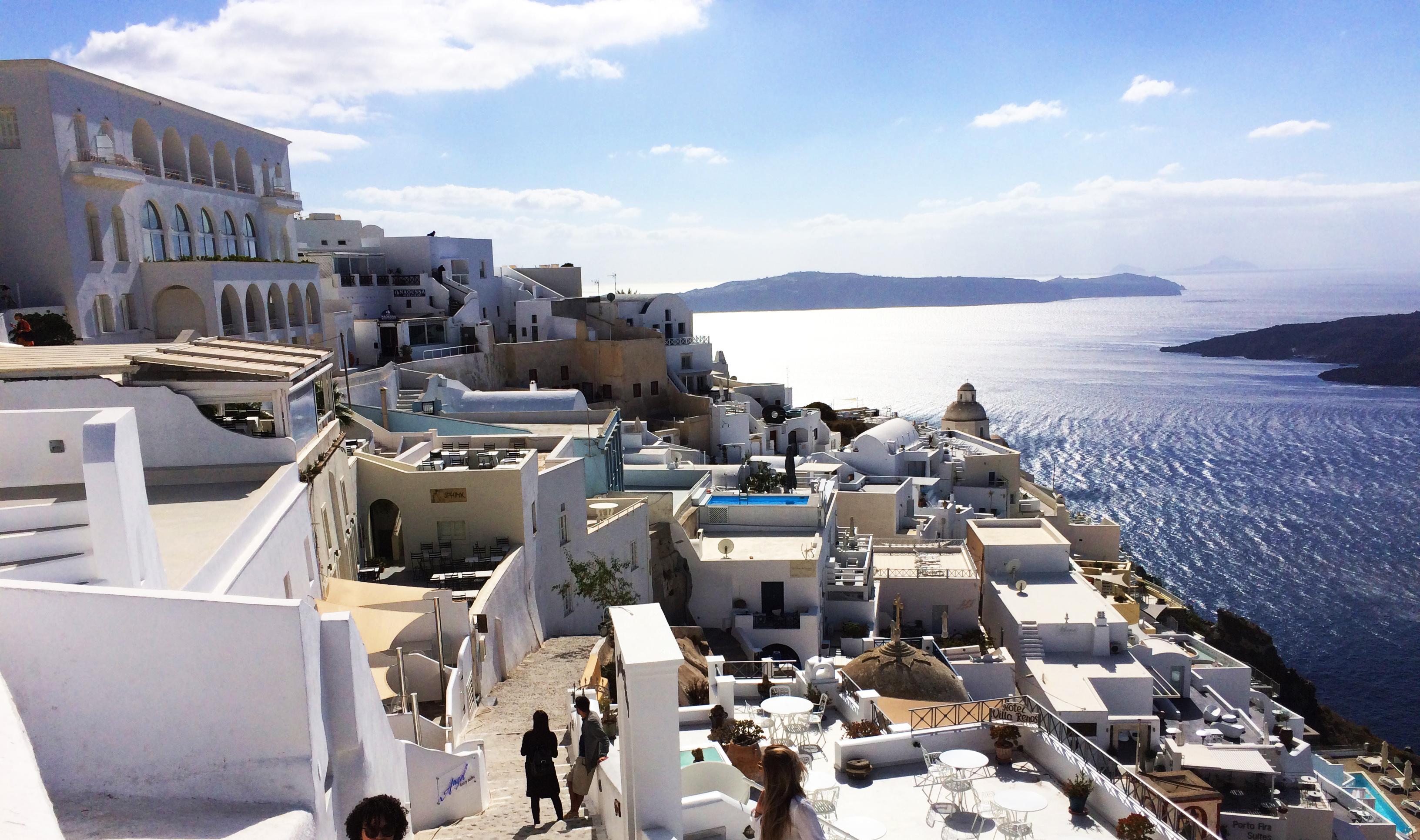 selo Santorini Grčka morski otok